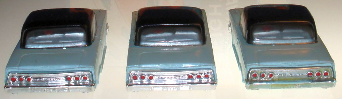 Atlas HO Slot Car Racing Chevrolet Impalas Bodies Trunks