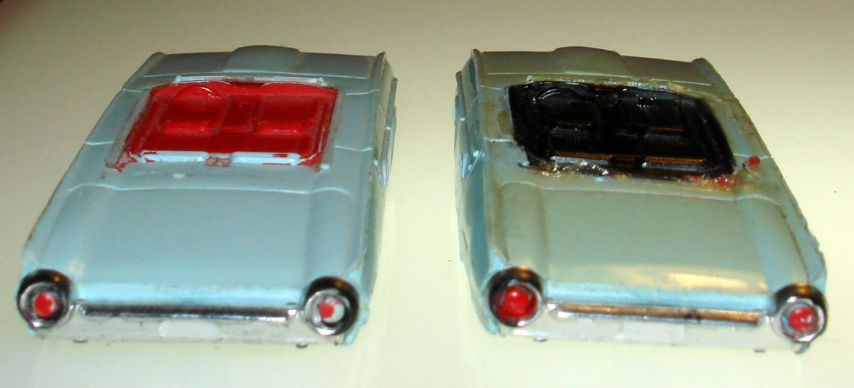 Atlas HO Slot Car Racing Ford Thunderbird Bodies Trunks