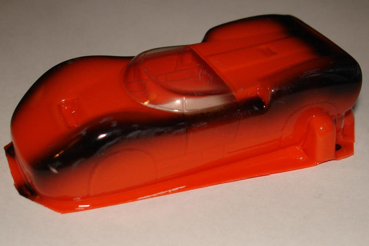 Cobramite McLaren MKII Orange & Black HO Slot Car Racing Body