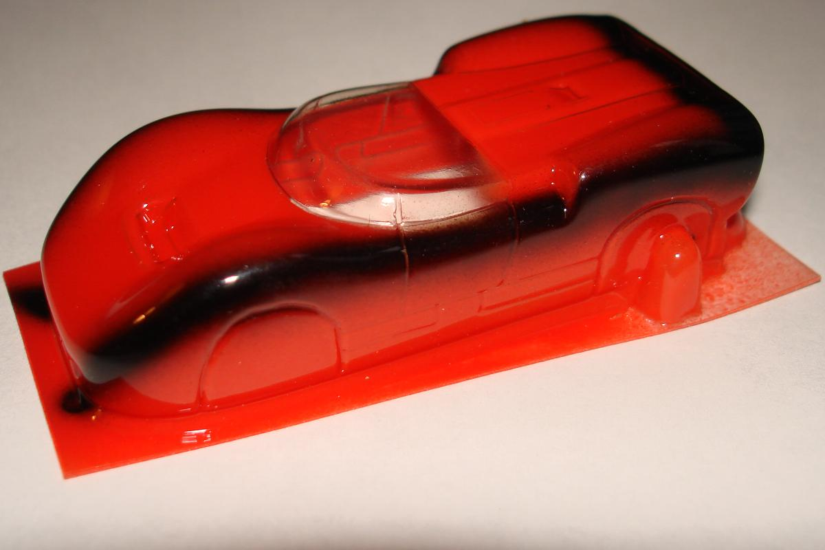 Cobramite McLaren MKII Red & Black HO Slot Car Racing Body