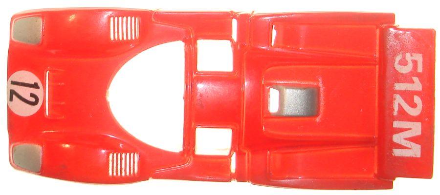 TycoPro Ferrari 512M Red Slot Car Runner Body Hood Roof
