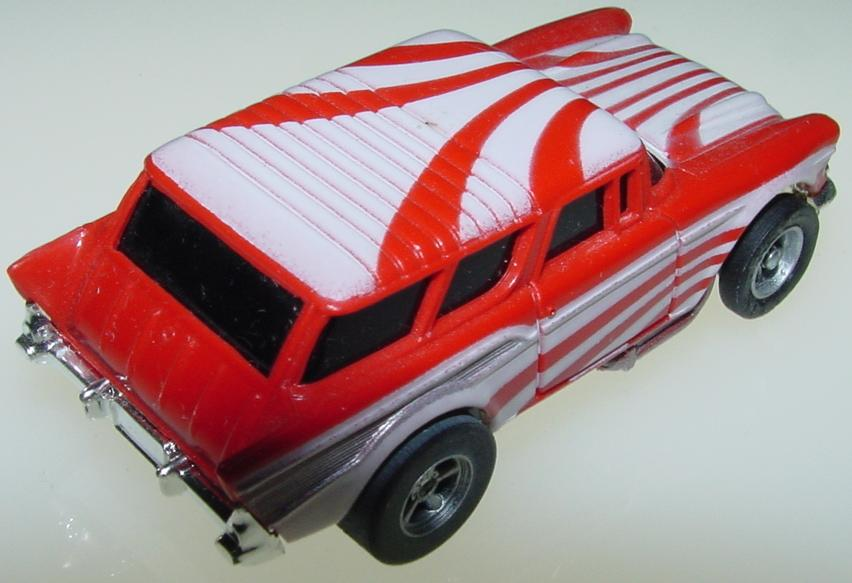 AFX 1957 Chevy Nomad Slot Car Starburst Red White Tailgate