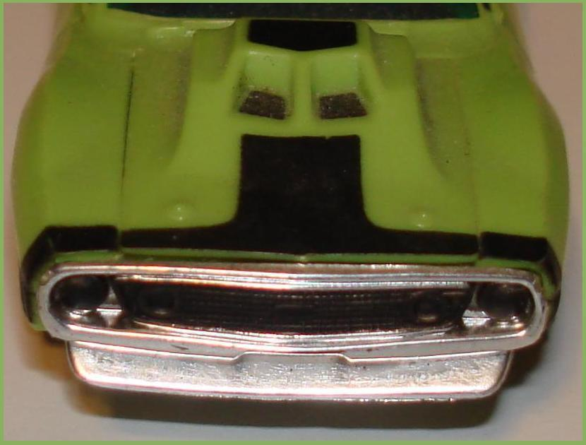Aurora AFX Javelin Pro Stock Lime Green Black Slot Car Front Bumper Grill