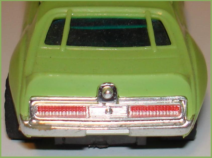 Aurora AFX Javelin Pro Stock Lime Green Black Slot Car Rear Bumper Grill