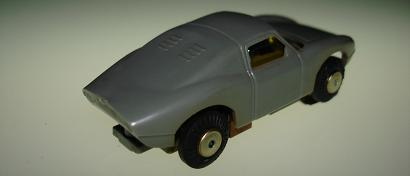 ATLAS MOTORING HO SLOT CARS GREY PORSCHE 904 GTO WITH RUNNING CHASSIS