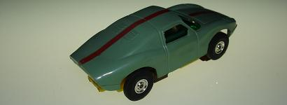 Atlas HO Slot Car Pea Green Porsche 904 Rear