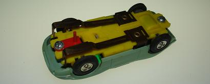 Atlas HO Slot Car Pea Green Porsche 904 Chassis