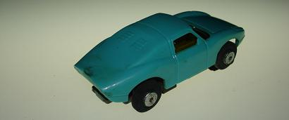 Atlas HO Slot Car Turquoise Porsche 904 Rear