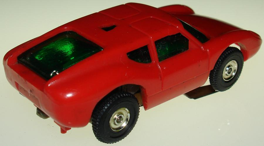 Atlas HO Scale Red Ford Lola 1102 Slot Car Trunk
