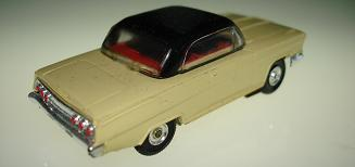 ATLAS HO MOTORING SLOT CARS YELLOW CHEVROLET CHEVY IMPALA HARDTOP 1275 CHROME BUMPERS