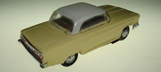 Atlas HO Slot Car Yellow Chevrolet Impala Rear Bumper