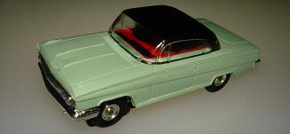 Atlas HO Slot Car Seafoam Green Chevy Impala Front Bumper