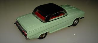 Atlas HO Slot Car Seafoam Green Chevy Impala Back Bumper