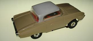 Atlas HO Slot Car Tan Ford Thunderbird Rear Bumper