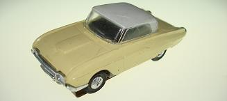 Atlas HO Slot Car Yellow Ford Thunderbird