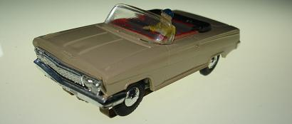 Atlas HO Slot Car Tan Chevrolet Impala Front Bumper