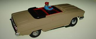 Atlas HO Slot Car Tan Chevrolet Impala Convertible Rear Bumper