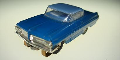 Atlas HO Slot Car Blue Pontiac Grand Prix Front Bumper