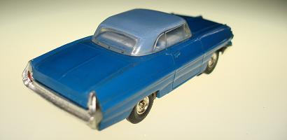 Atlas HO Slot Car Blue Pontiac Grand Prix Rear Bumper