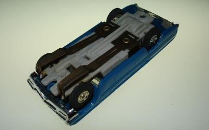 Atlas HO Slot Car Blue Station Wagon Chassis