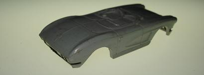 Atlas HO Slot Car Grey Chevy Vette Body
