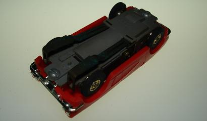 Atlas HO Slot Car Red Chevrolet Corvette Chassis