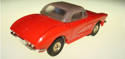 Atlas HO Slot Car Red Chevrolet Corvette