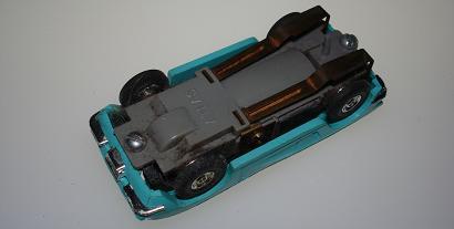 Atlas HO Slot Car Turquoise Chevrolet Corvette Chassis