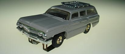 Atlas HO Slot Car Grey Station Wagon Front Bumper