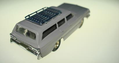 Atlas HO Slot Car Grey Station Wagon Rear Bumper