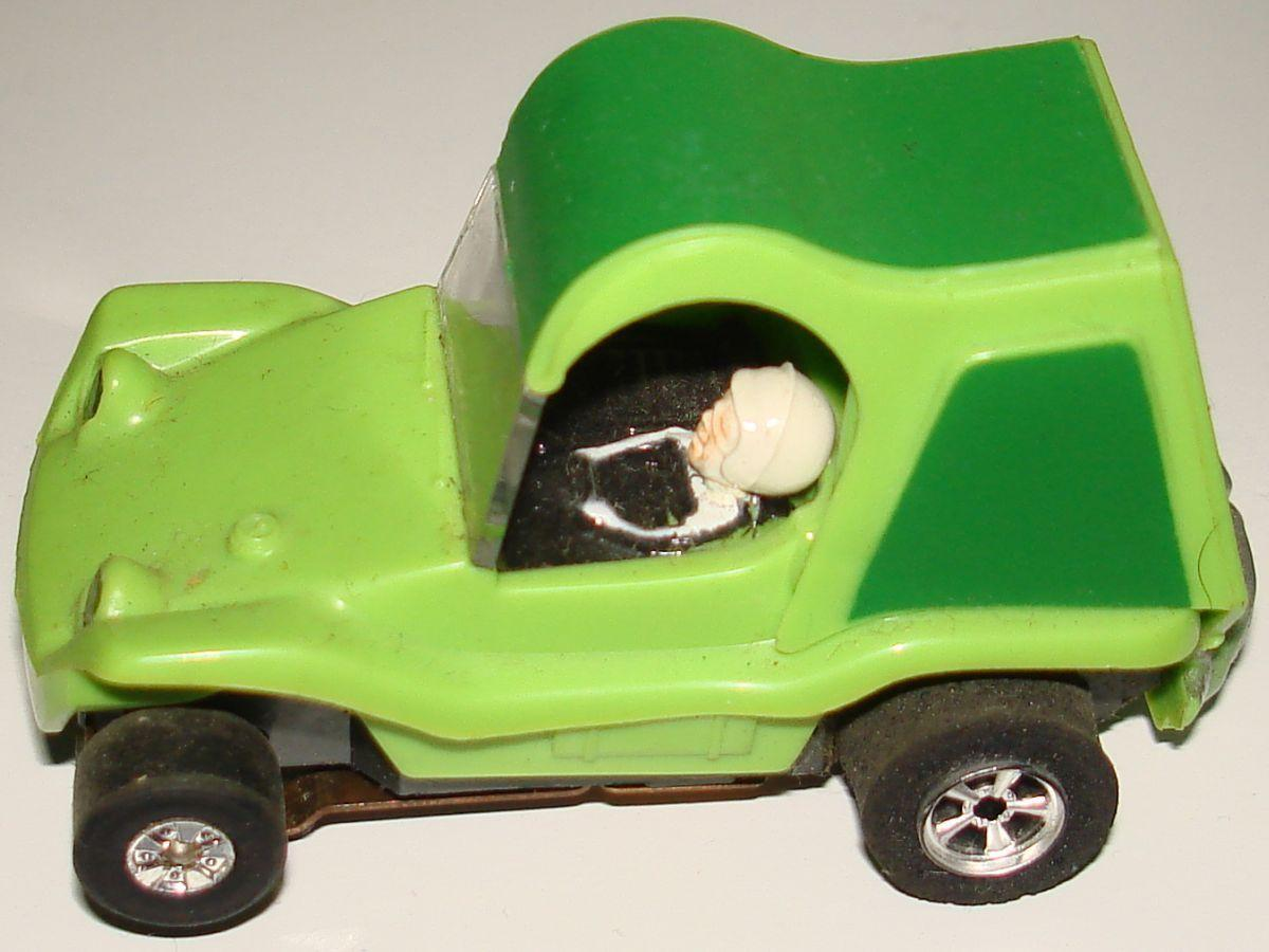 Aurora Model Motoring HO Scale Slot Car Racing Lime Green Sand Van Hood