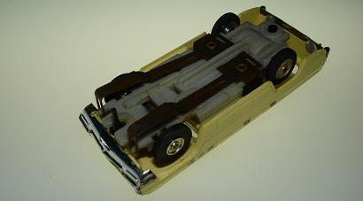 Atlas HO Slot Car Yellow Station Wagon Chassis