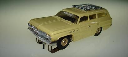 Atlas HO Slot Car Yellow Station Wagon Front Bumper