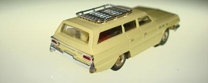 Atlas HO Slot Car Yellow Station Wagon Rear Bumper