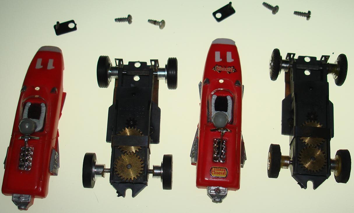 Aurora Red Repco Brabham Racer Slot Car
