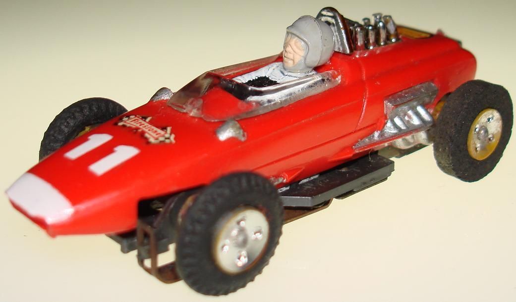 Aurora Red #11 Repco Brabham Slot Car Rear View