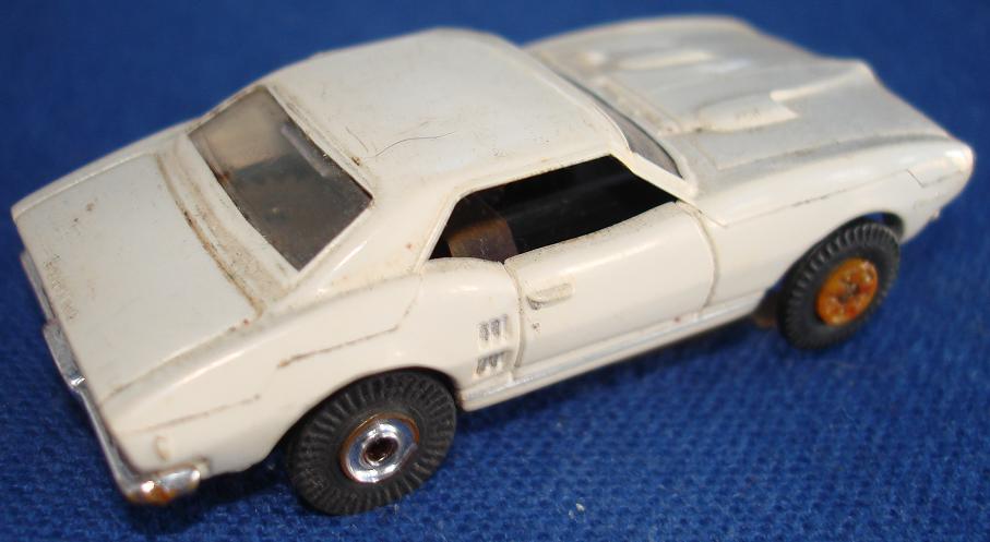 White Firebird Car. HO Scale TJET Pontiac Firebird Slot Car - Rear