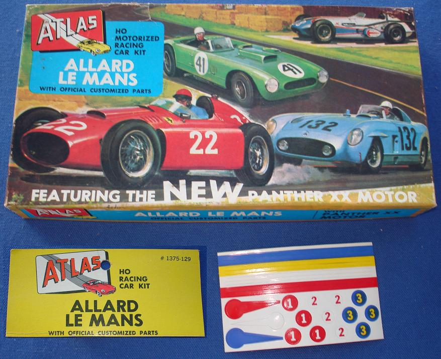Atlas HO Slot Car Kit Allard LeMans Racer Box Lid