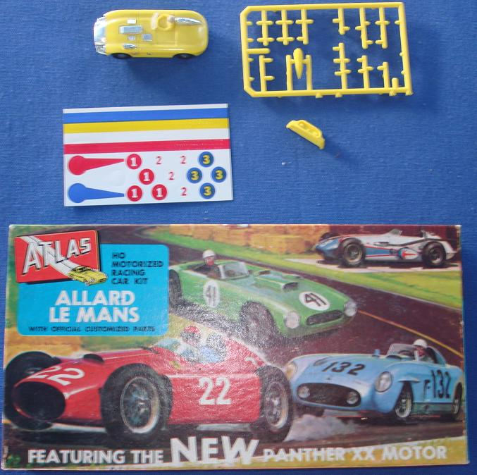 Atlas HO Slot Car Kit Allard LeMans Racer Spare Parts