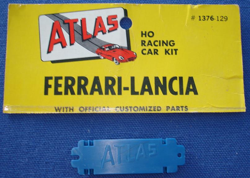 ATLAS HO MOTORING SLOT CAR FERRARI LANCIA RACING KIT #1376 CHASSIS BASE BLUE