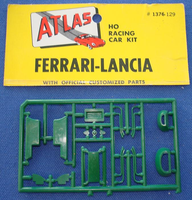 ATLAS HO MOTORING SLOT CAR FERRARI LANCIA KIT #1376 SPRUE SPARE PARTS BRITISH RACING GREEN