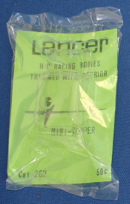 Lancer HO Scale Clear Slot Car Body Kit Mini Cooper