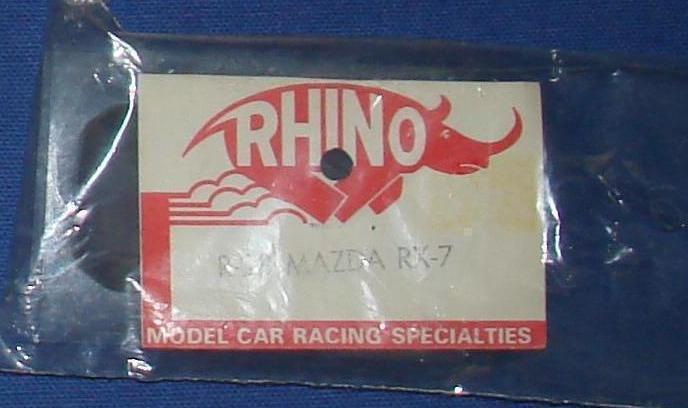 Rhino Clear Unpainted HO Slot Car Body Kit