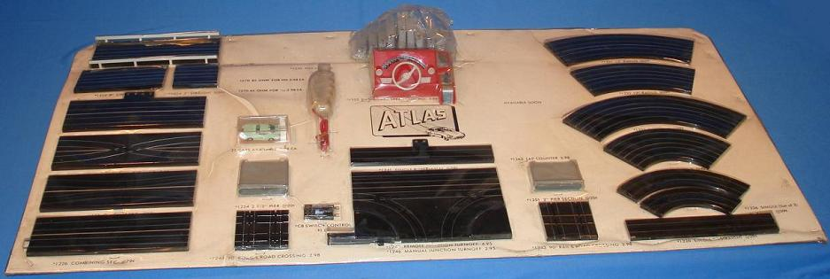 Atlas HO Slot Car Racing R1 Store Merchandiser Track Display