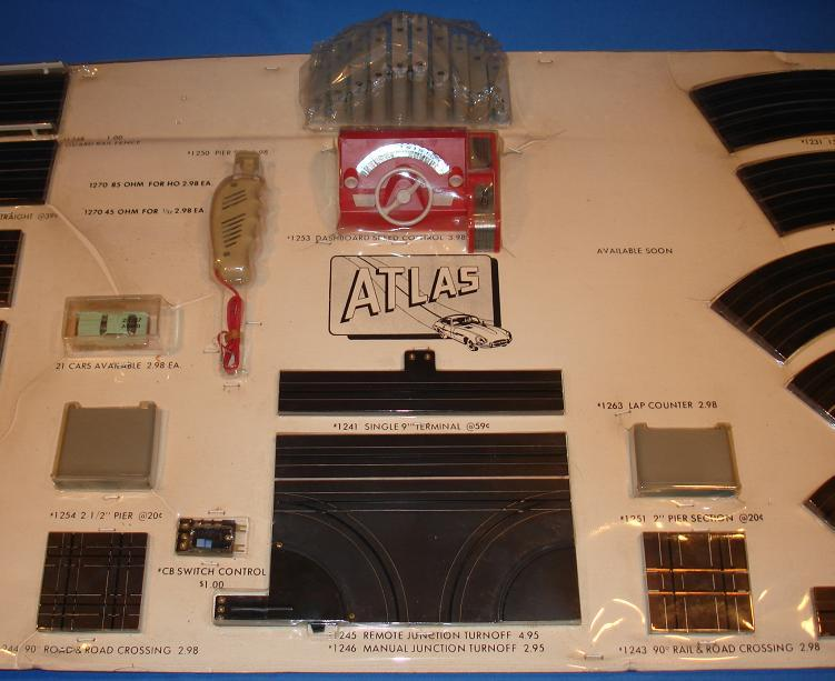 Atlas HO Slot Car Racing Store Display Railroad Crossing Track & Switches