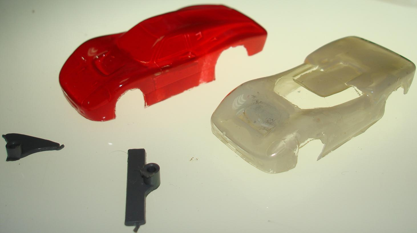 Unknown HO Scale Slot Car Racing Painted Lexan Bodies Hood View