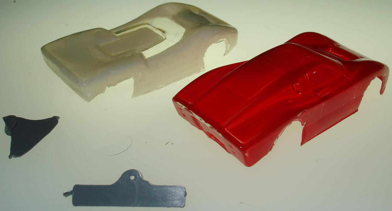 Unknown HO Scale Slot Car Racing Painted Lexan Bodies Trunk View