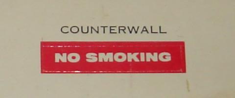 Atlas HO Slot Car Racing Pit Stop Kit 1408 Building Counter Wall Sticker No Smoking