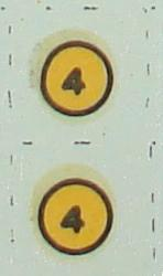 Aurora 187 Scale Slot Car Hop Up Kit Decals Number Fours