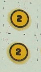 Aurora 187 Scale Slot Car Hop Up Kit Decals Number Twos